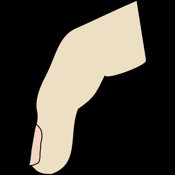 sideways finger