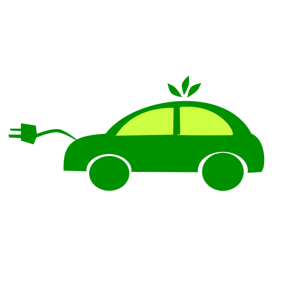 Electric car vector clip art
