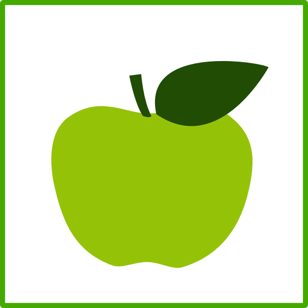 Eco apple vector icon