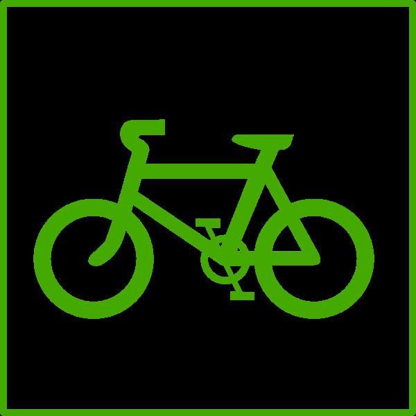 Eco bicycle vector icon