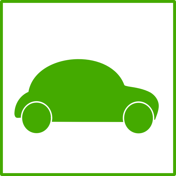 Electric car icon vector clip art