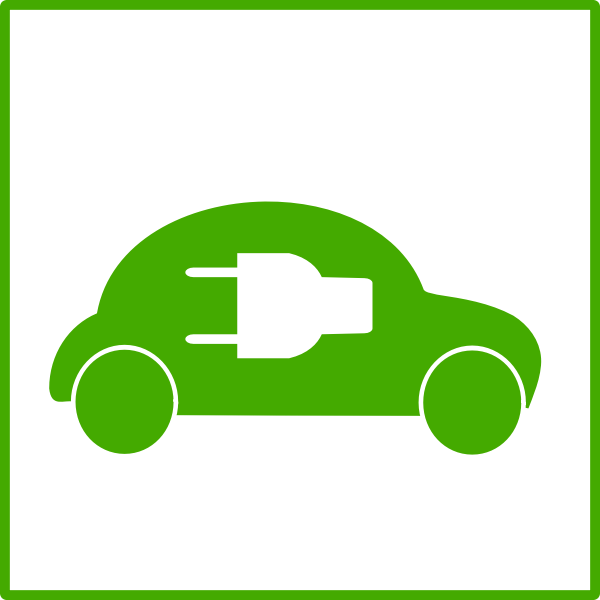 Electric car icon vector graphics