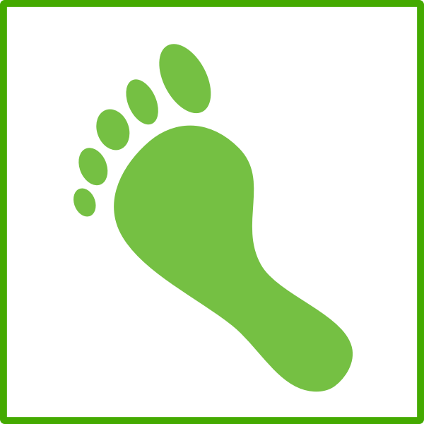 Eco carbon footprint vector icon