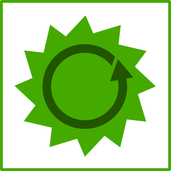 Eco energy vector sign
