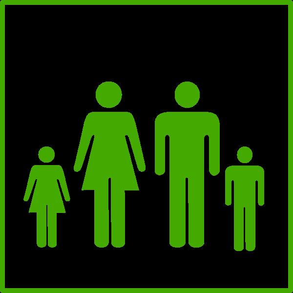 Eco family vector icon