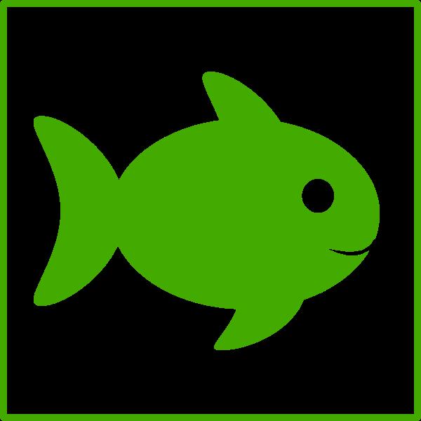 Eco fish vector icon