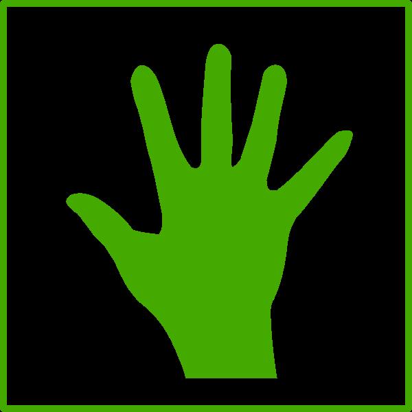 Eco hand vector icon