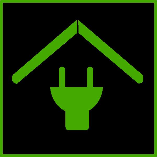 Eco house vector icon