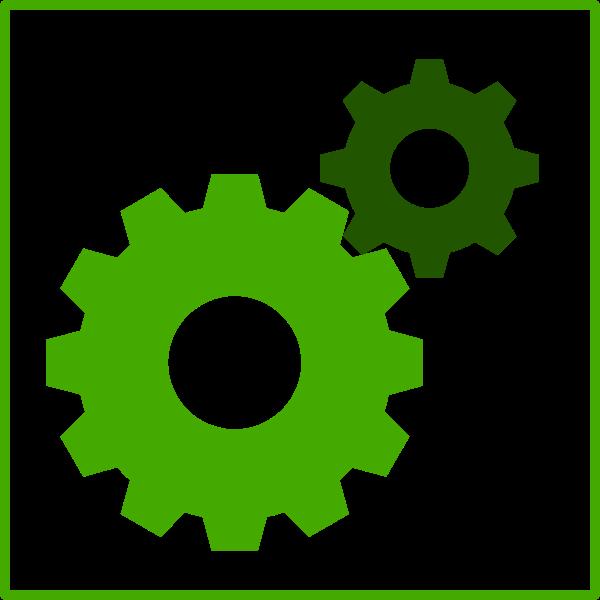 Eco green machine icon vector clip art