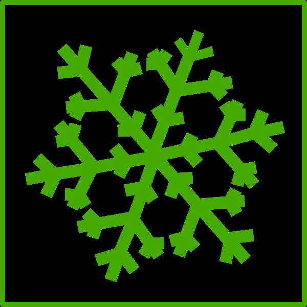 Eco snow vector icon