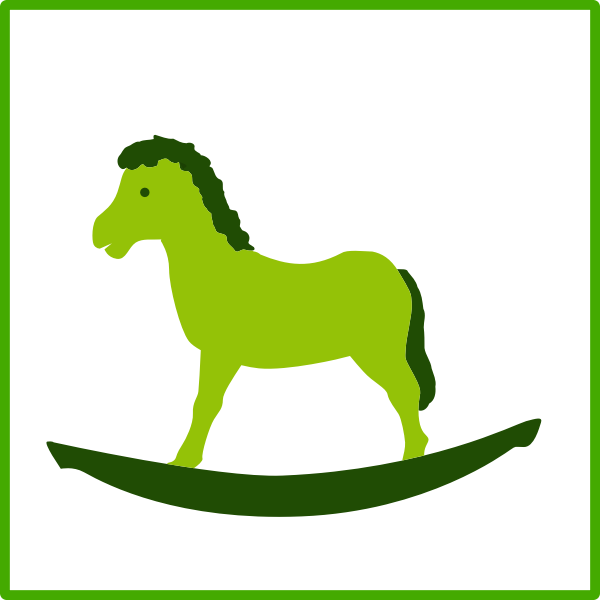 Eco green toy vector icon