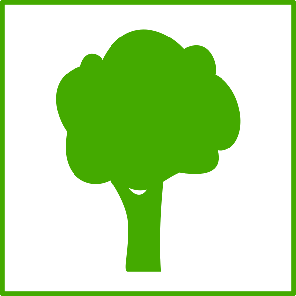 Eco tree vector icon