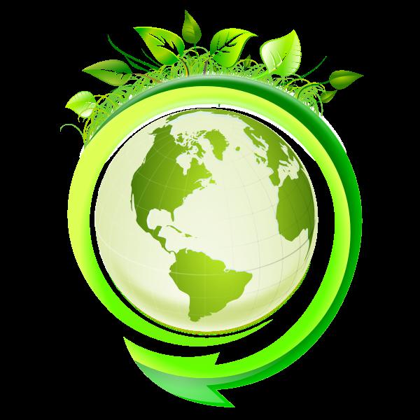 Eco Earth icon vector image
