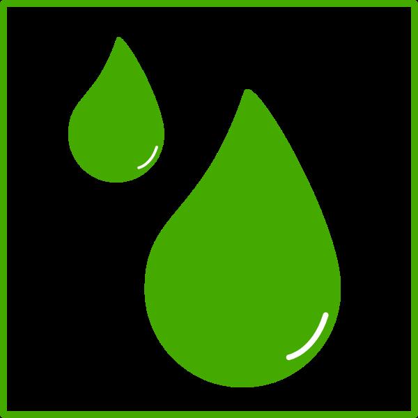 Eco green water drop vector image