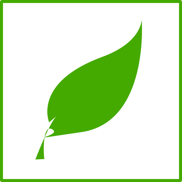 Eco green leaf vector icon