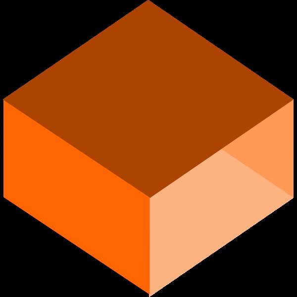3D orange box vector drawing