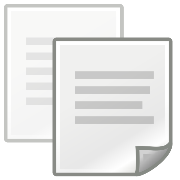 Vector illustration of copy and edit computer icon