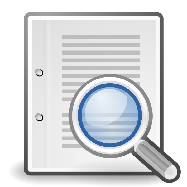 Vector image of find on page computer icon