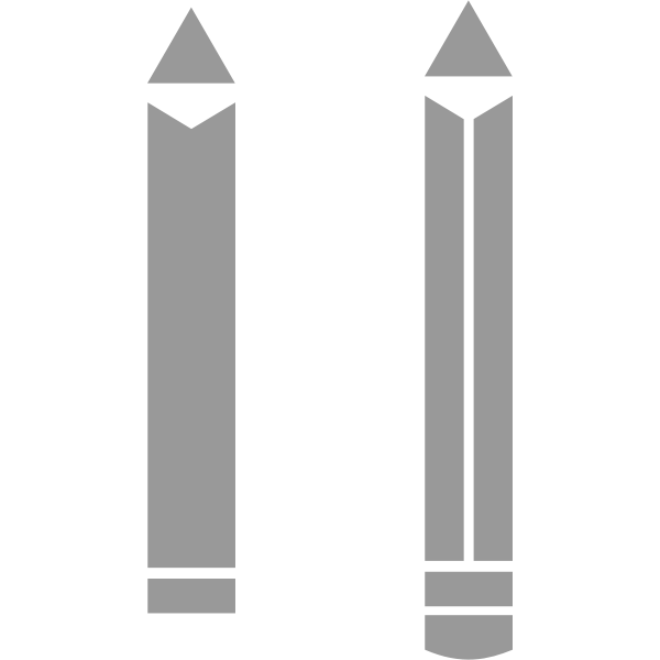 Vector graphics of two pencils pictogram
