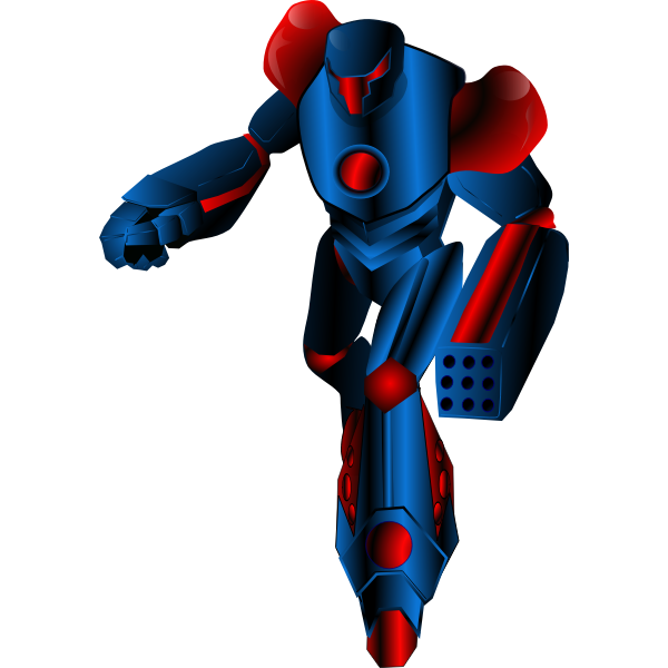 Mecha Warrior vector graphics