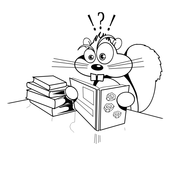 Studying squirrel vector image