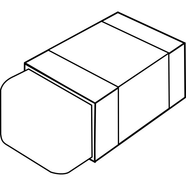 Eraser line art vector image