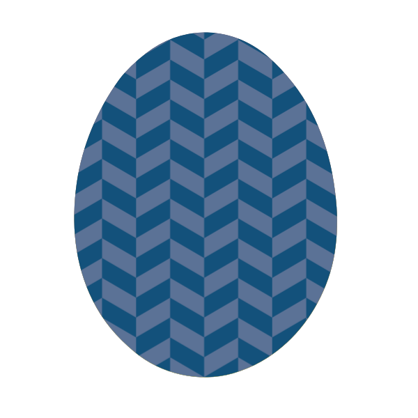 Decorative Easter egg vector graphics