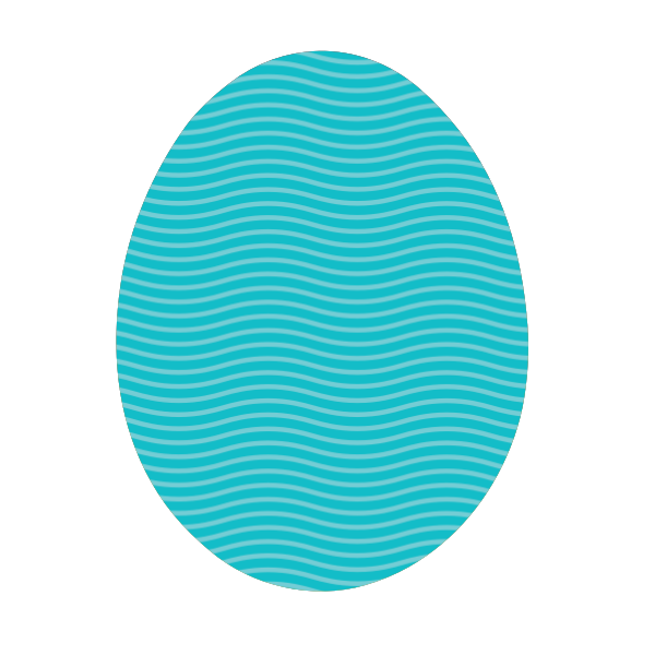 Blue Easter eggs vector image