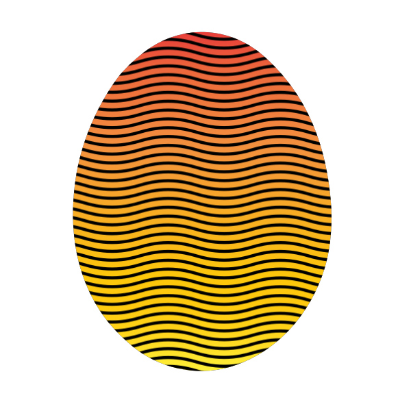 Easter egg in vibrant colors vector image