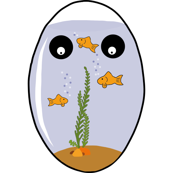 Egg shaped aquarium vector image