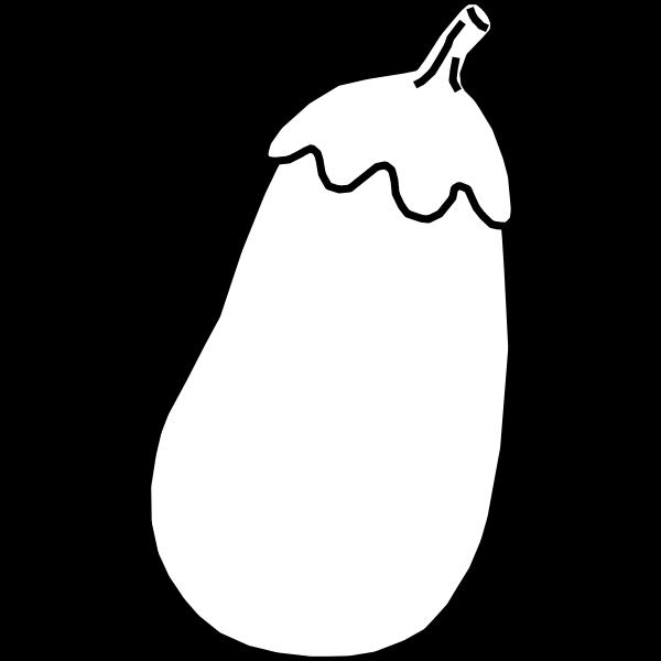 Eggplant line art vector illustration
