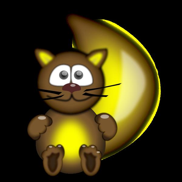 Funny cat mascot vector drawing
