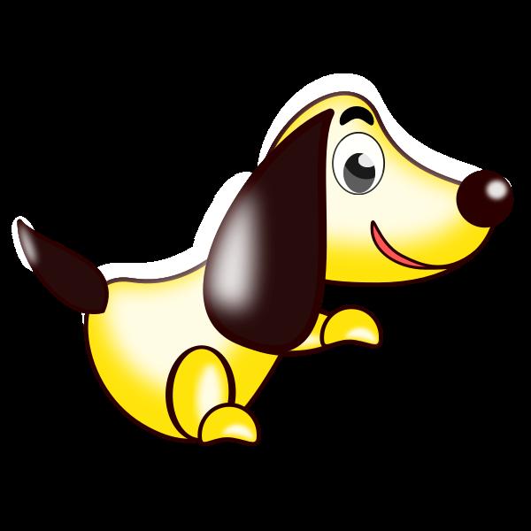 Yellow dog vector image