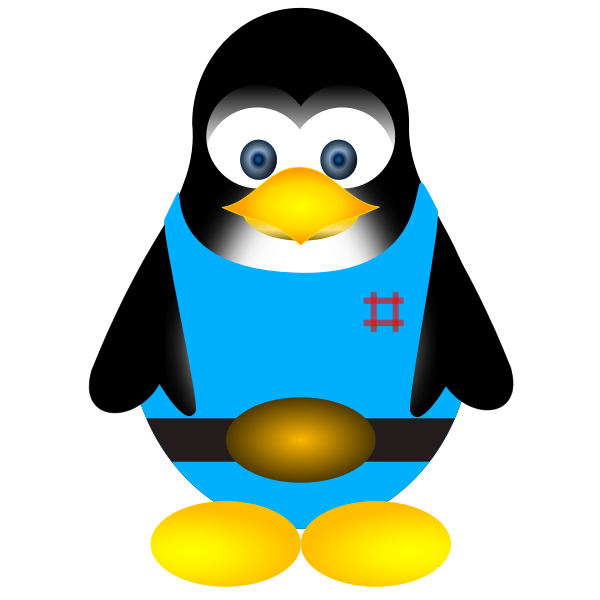 Tux vector drawing