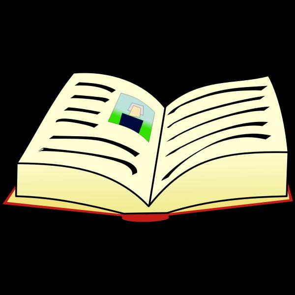 Open book clip art vector