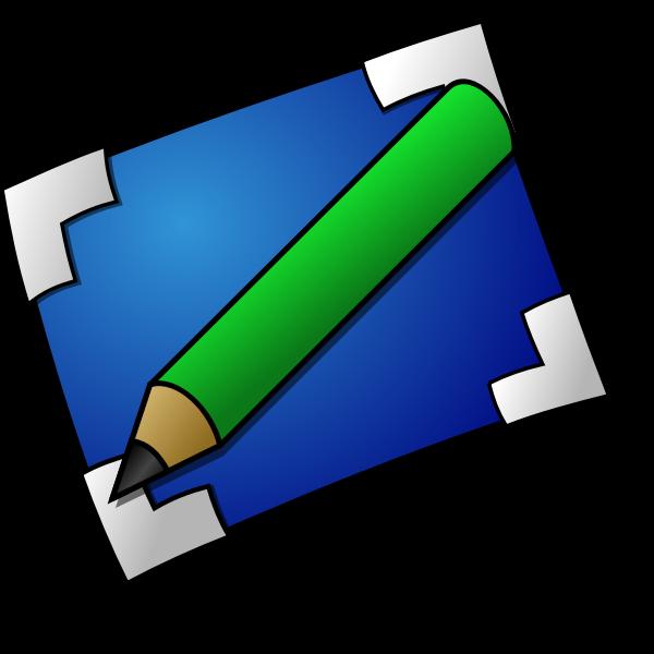 Color vector image of art folder icon