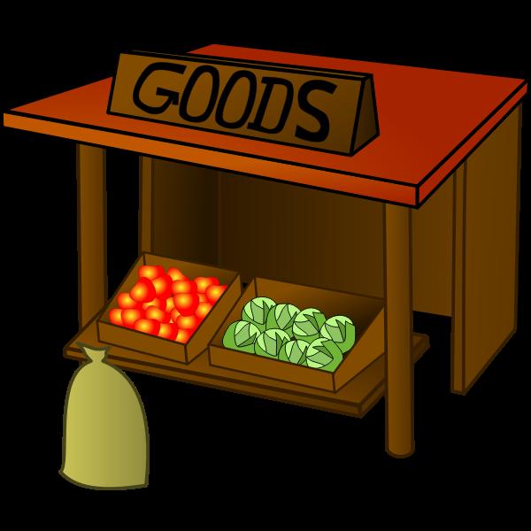 Market vector illustration