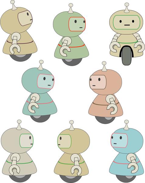eight little robots