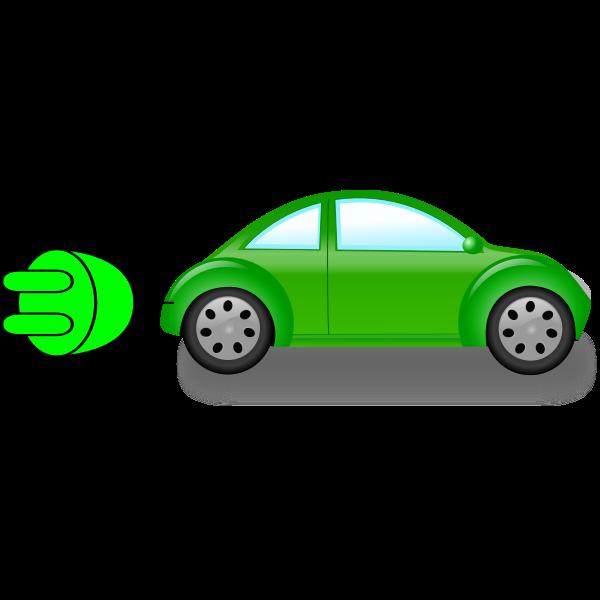 Electric car vector clip art