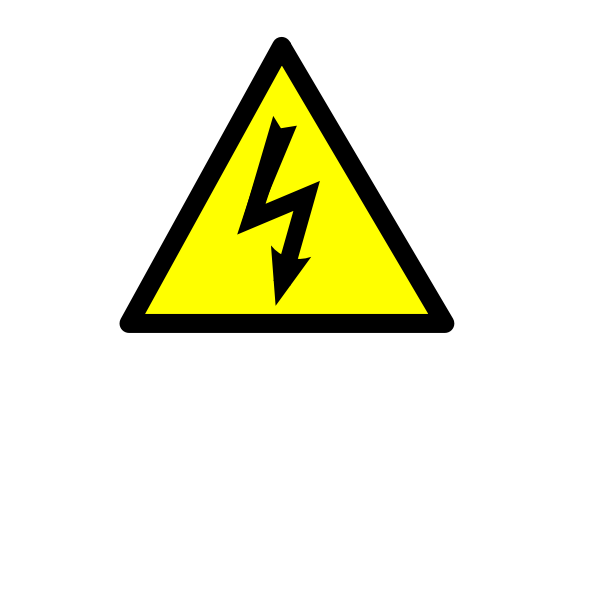 Electricity current danger sign vector image