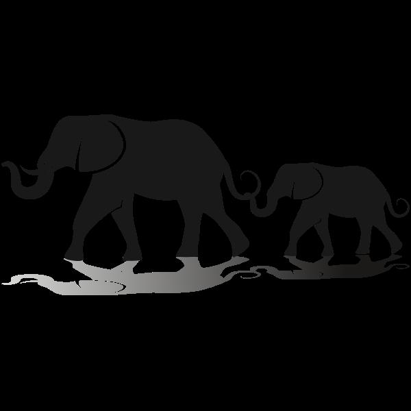 Elephant family   Free SVG