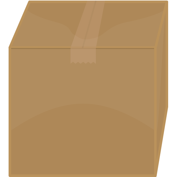 Vector image of taped shut cardboard box