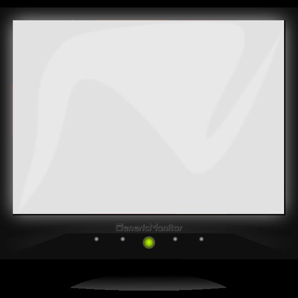 LCD Generic screen vector clip art