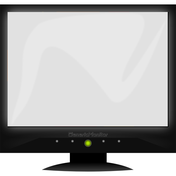 LCD Generic screen vector clip art