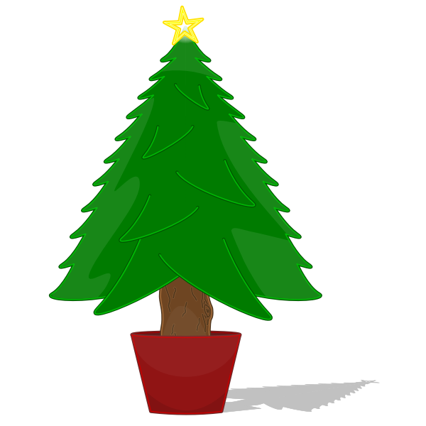 Glossy Christmas Tree Vector