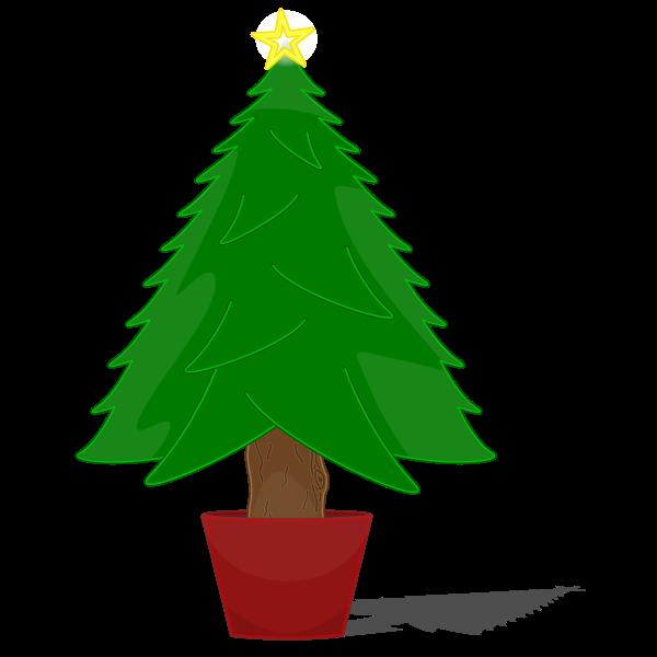 Glossy Christmas Tree Vector