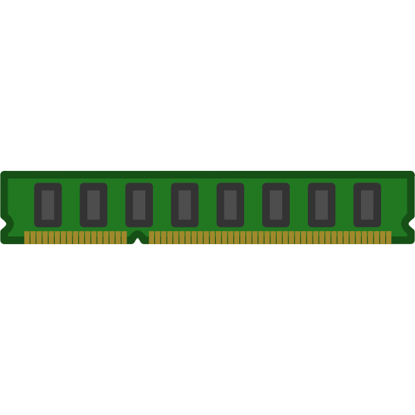 Random-access memory device vector illustration