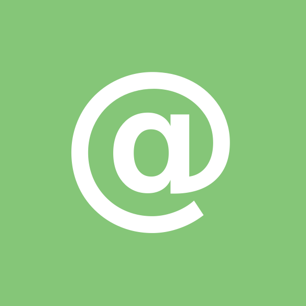 "An ""at"" (@) sign in a square vector image"