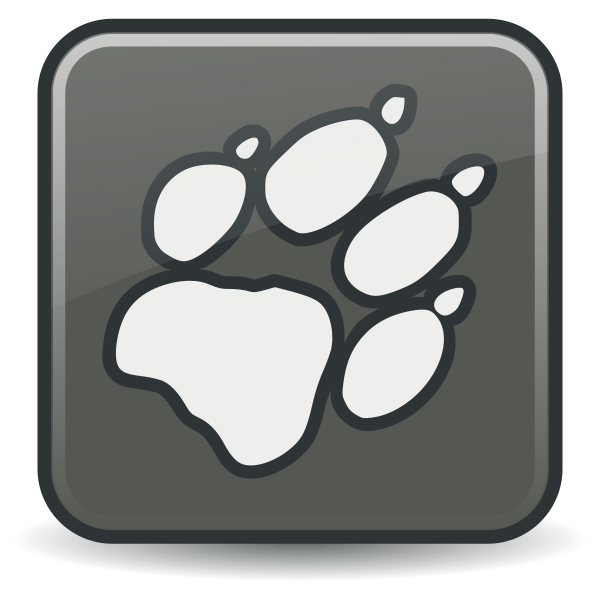 Dog paw sign vector image
