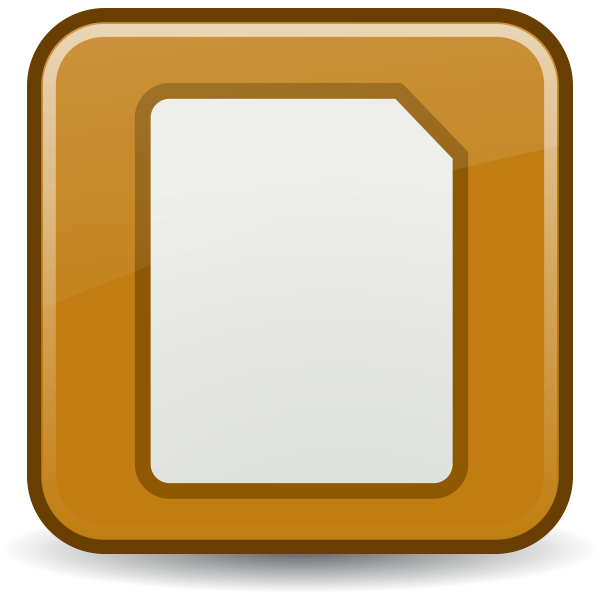 Document icon vector clip art
